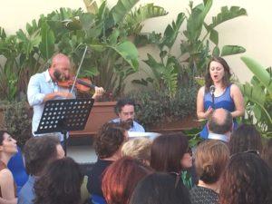 Concerto nel roof garden della casa degli artisti
