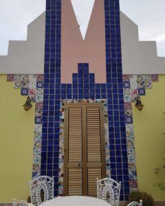 Frontile d'ingresso al roof garden