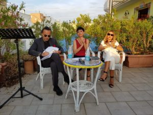 Presentazione libro nel roof garden della Casa degli Artisti